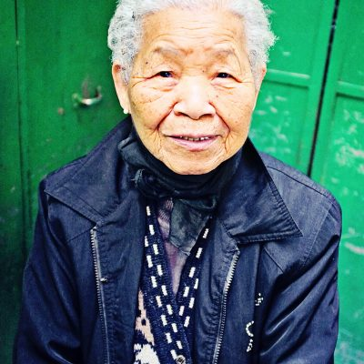 Portrait of a lady in Hong Kong
